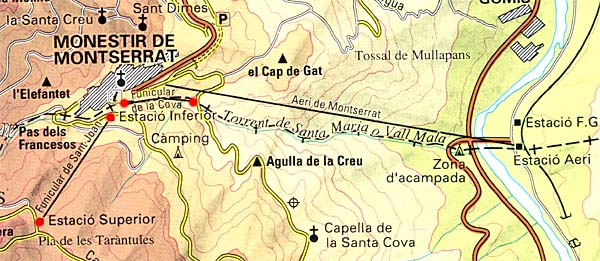 Funicular Monastery of Montserrat Catalonia Spain Monserrat01