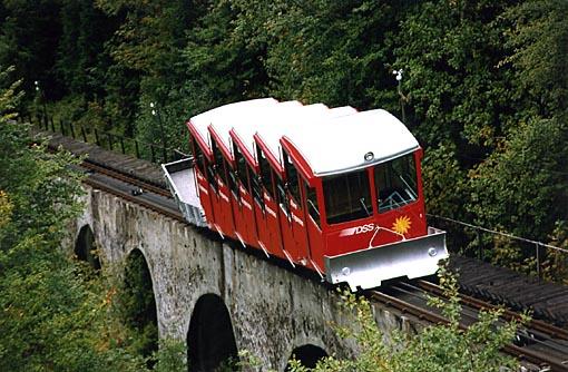 Stoos actual funicular