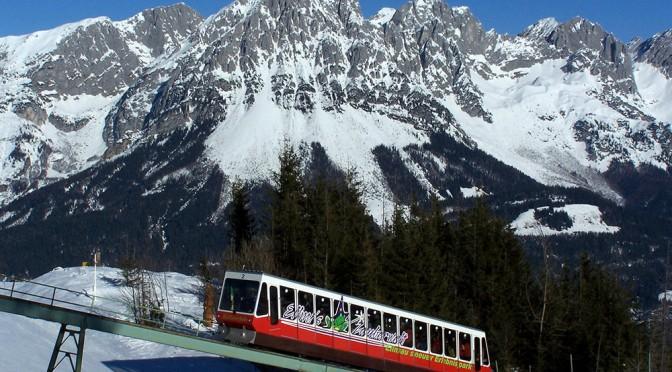 The end of Hartkaiserbahn at Ellmau