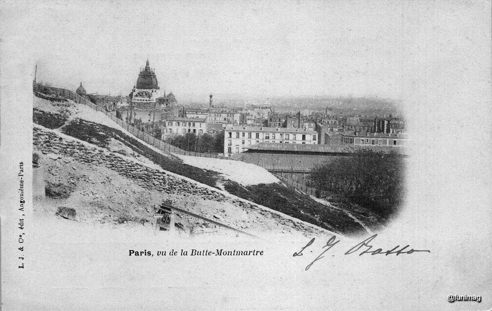 Butte Montmartre à la fin des années 1890s