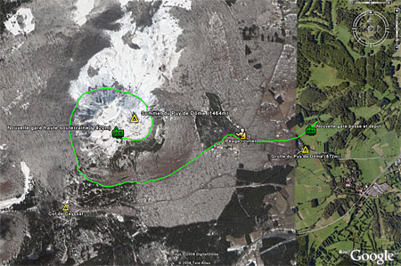 Click to see with Google Earth / Cliquer pour voir sous Goole Earth