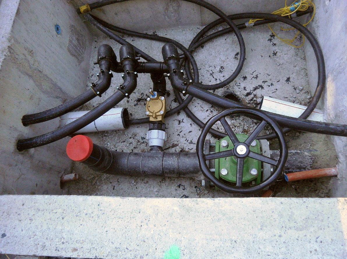 Système d'arrosage de type sprinkler / Water supply system type sprinkler