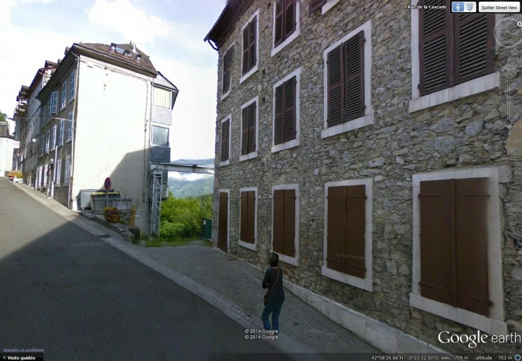 Vue Google Street au 7 rue de la Cascade