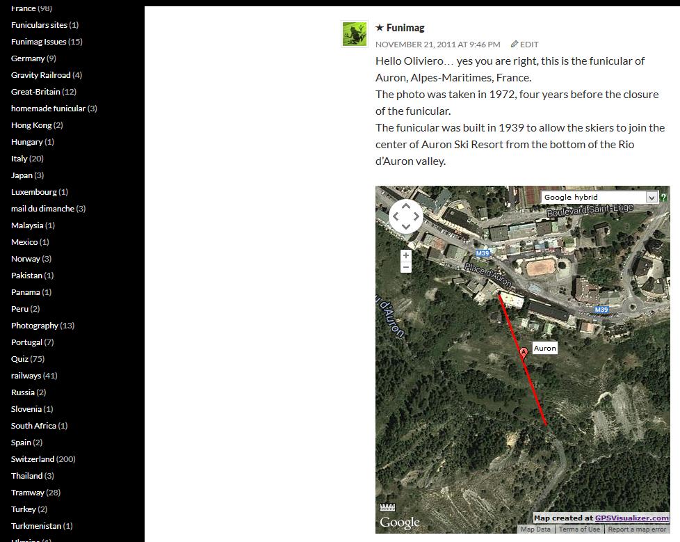 New map generated by GPSVisualizer / Nouvelle map générée par GPSVisualizer