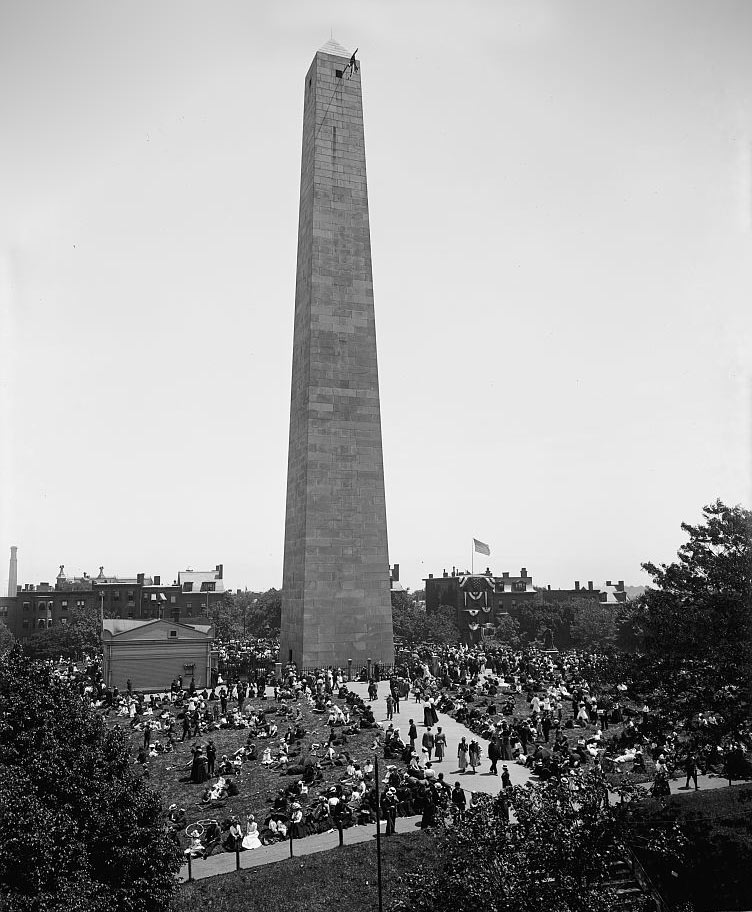 Bunker Hill Monument in 1890