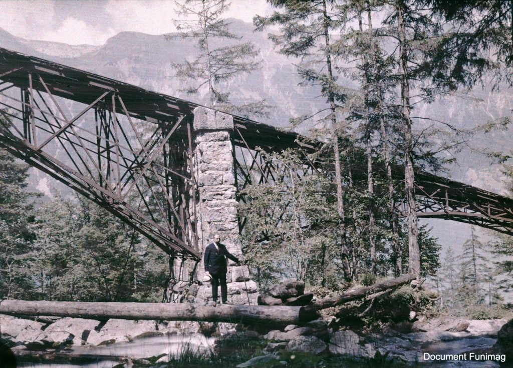 Autochrome of the Giessbach Bahn (1907)