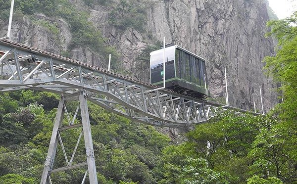 New Funicular in the Yellow Mountains (Huangshan)