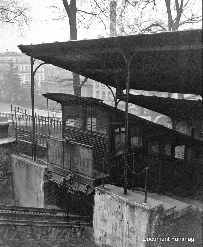 Funiculaire de Montmartre en 1927 / Montmartre Funicular in 1927