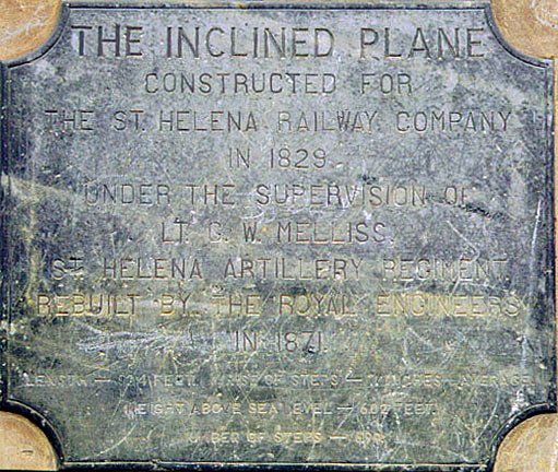 Inclined Plane plaque / Plaque signalant le plan incliné