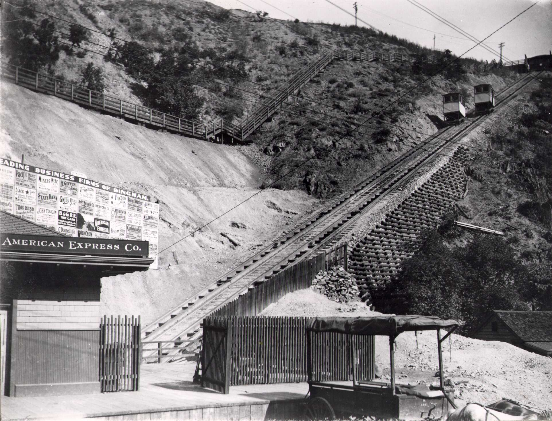 Kennecott Copper Mine - Bingham Canyon Incline (1909-1970)
