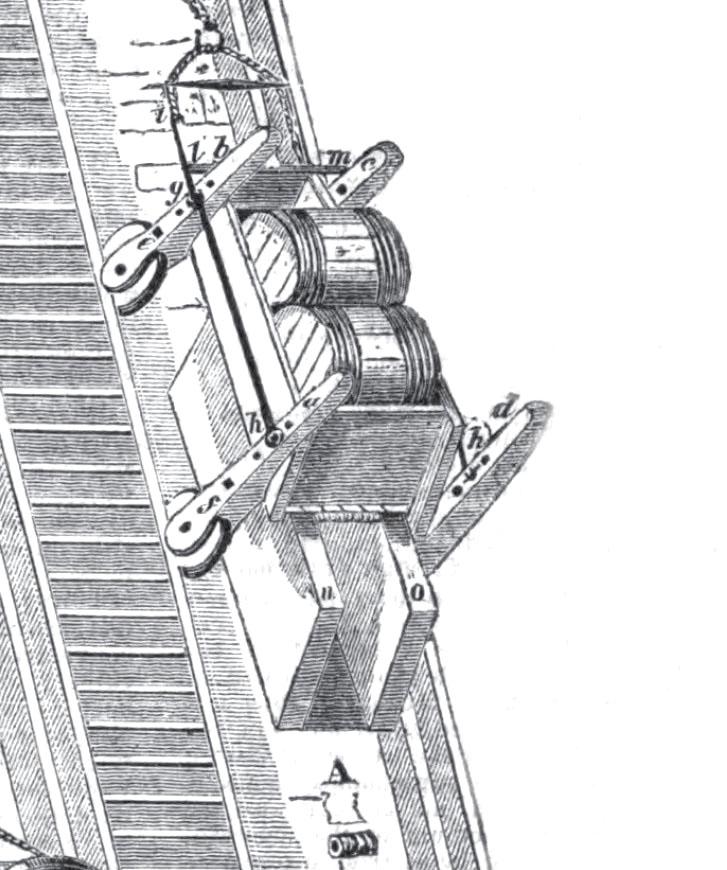 Details of a moving waggon / Détails d'un chariot en mouvement