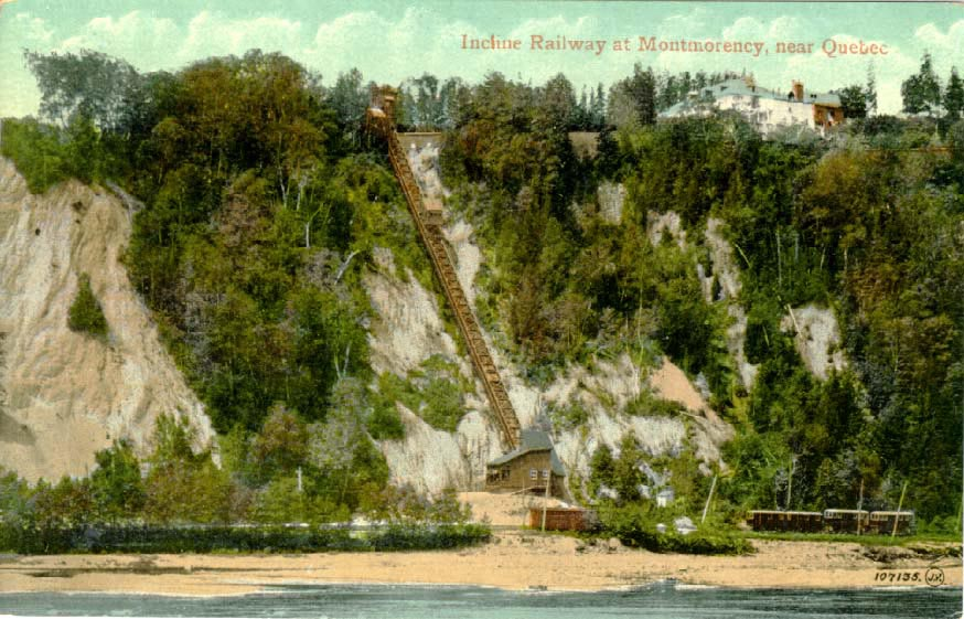Montmorency Incline - old postcard